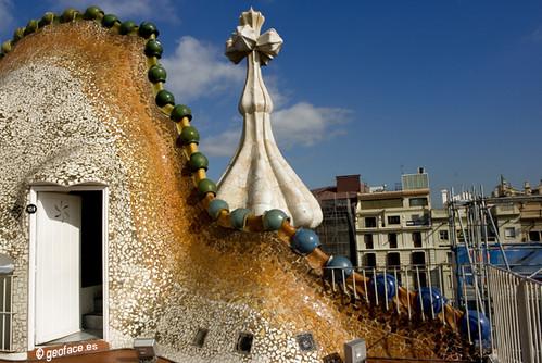 Fotografía 7 Antoni Gaudí Terraza Casa Batlló 1905 Paseo