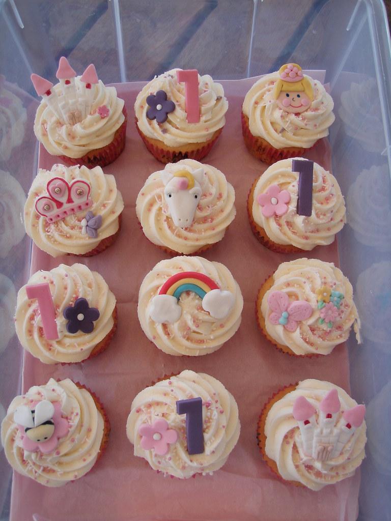 Mossys Masterpiece First Birthday Princess Unicorn Cupcakes