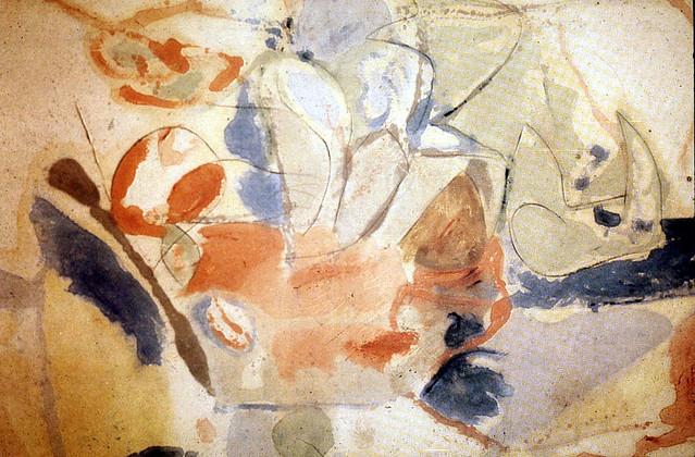 Frankenthaler, Helen (1928-  ) - 1952 Mountains and Sea (National Gallery of Art, Washington D.C.)
