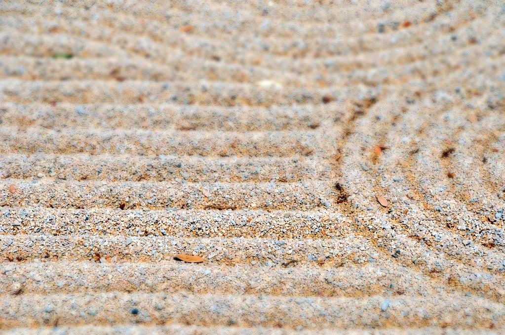 Japanese Zen Garden Gravel Raked Pebbles Fort Worth Texas ...