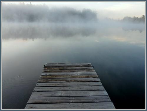 morning mist up fog sunrise dock michigan upper peninsula basslake yooper gwinn magicunicornverybest magicunicornmasterpiece