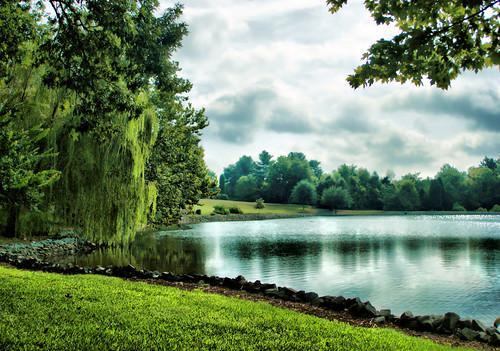 sky lake reflection clouds northcarolina hdr lexingtonnc saponacountryclub jeanetterunyon