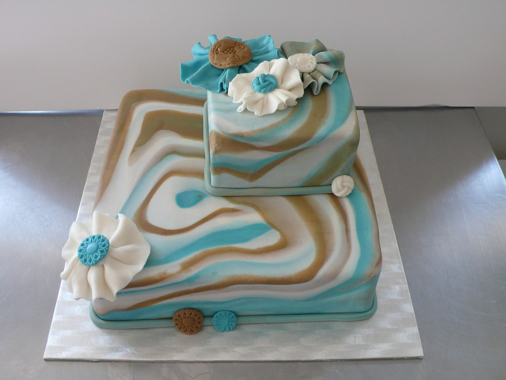 Surprising Marble Fondant Effect Birthday Cake This Cake Was Made For Flickr Personalised Birthday Cards Akebfashionlily Jamesorg