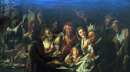 """The Feast of the Epiphany"" (c. 1639-1640) - Workshop of Jacob Jordaens 
