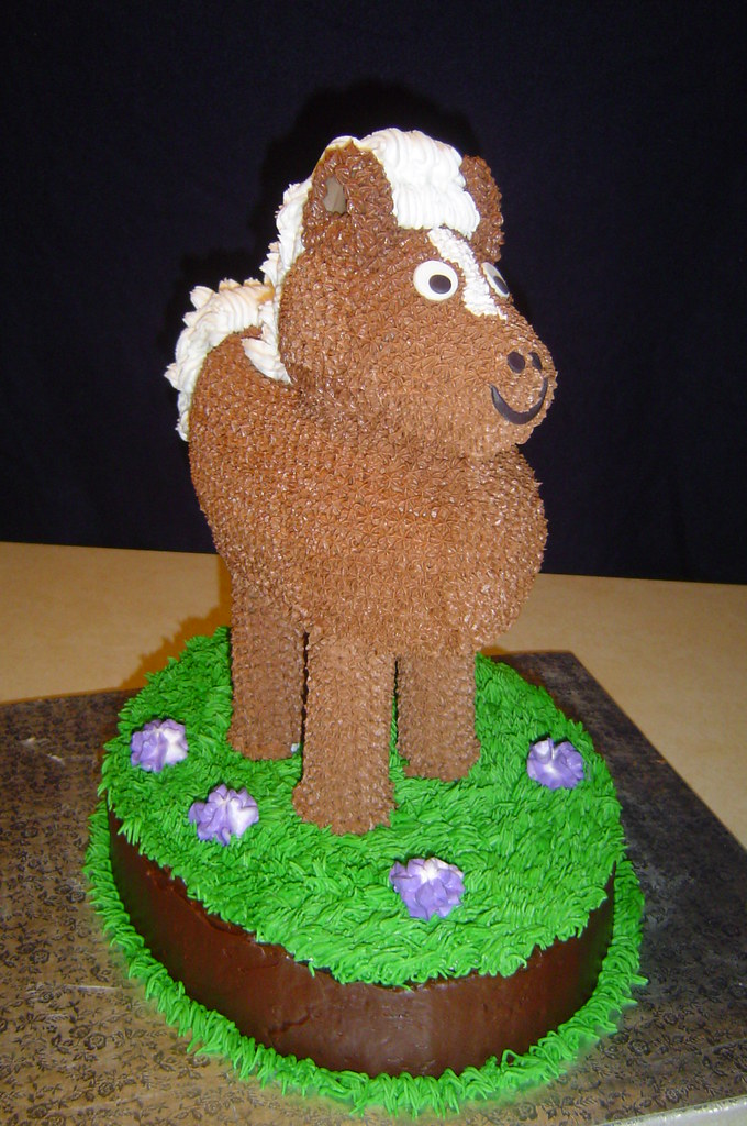 Peachy Horse Birthday Cake 2 This Is My Second Horse Cake It Wa Flickr Funny Birthday Cards Online Necthendildamsfinfo