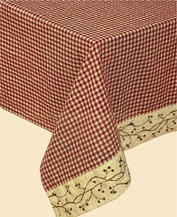 Checker-Berry Table Cover