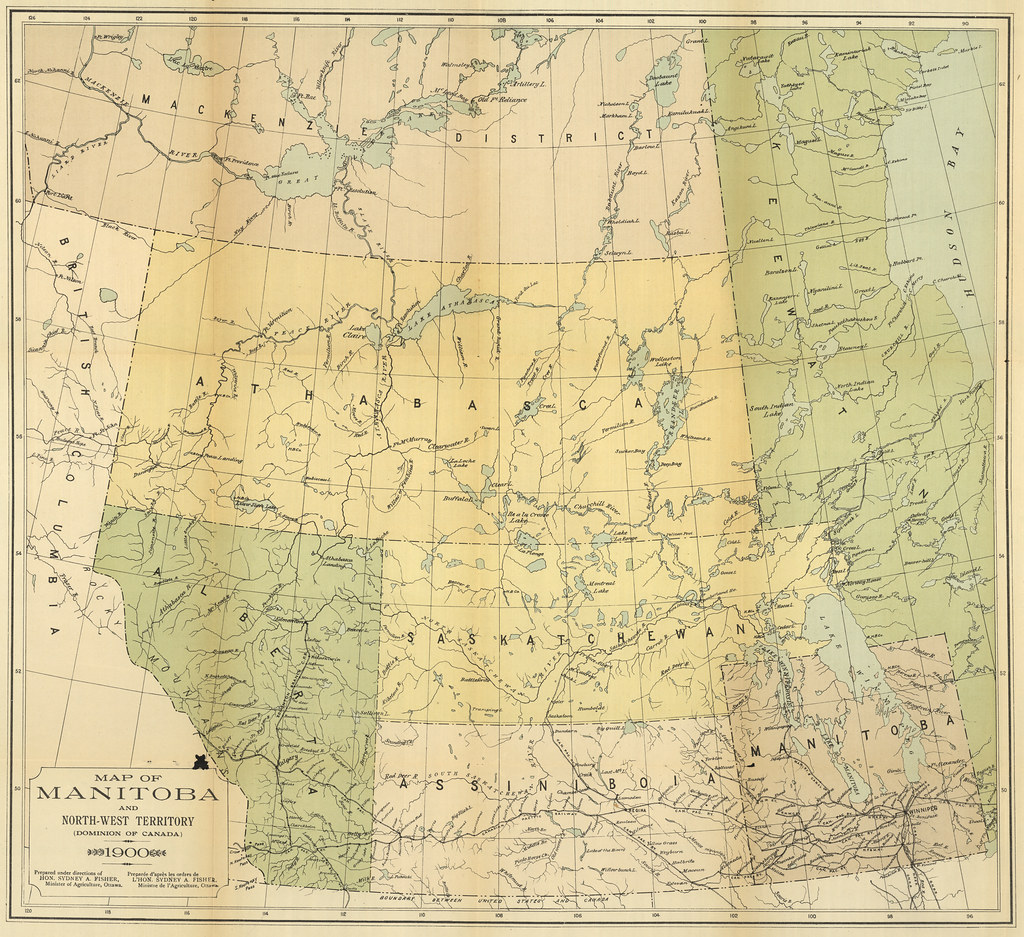 Map Of Canada 1900.Map Of Manitoba And North West Territory 1900 Canada Dep Flickr