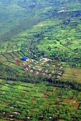 Rwanda from the air, vicinty of Kigali