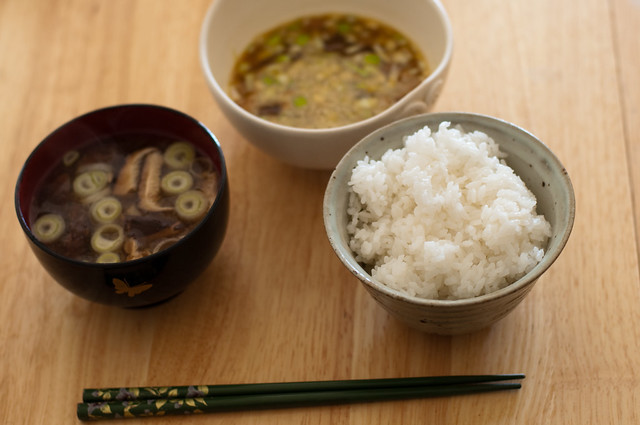 Rice, Miso soup, and Natto