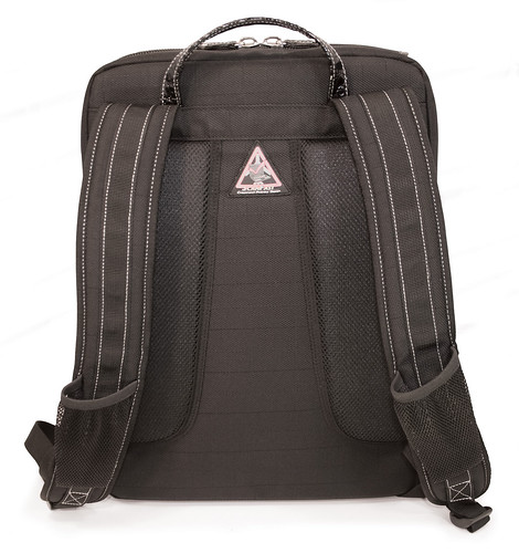 Mobile Edge ScanFast Onyx Backpack - back panel | by Mobile Edge Laptop Cases