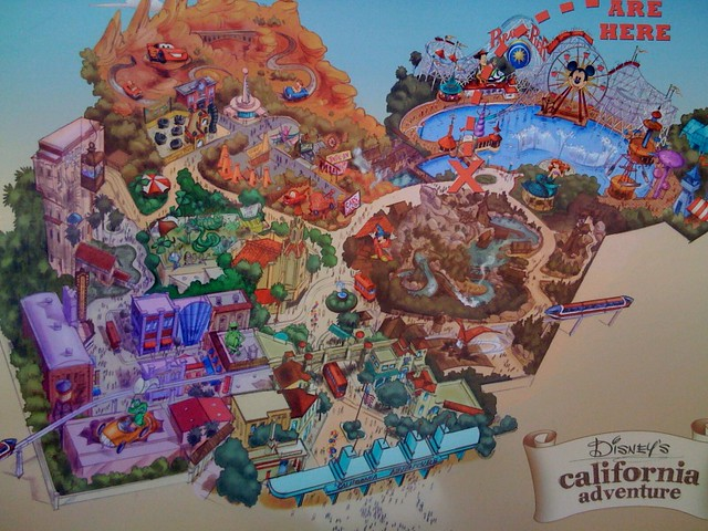 Map Of California Disney.Disney S California Adventure Future Map Found On The Cons Flickr