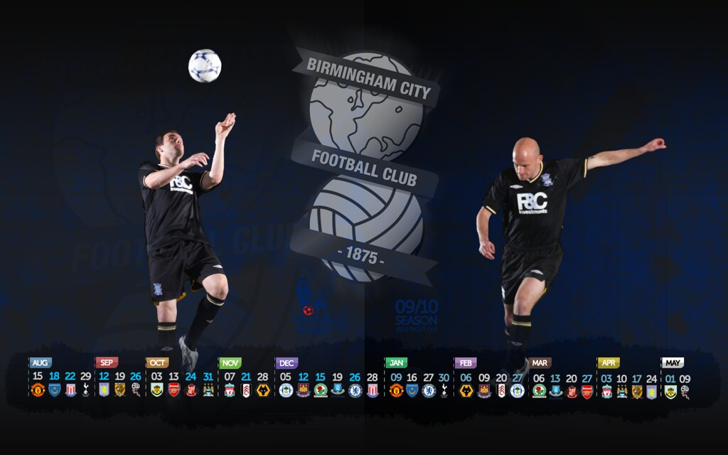 Birmingham City Black Away Kit Fixture Wallpaper 09/10 | Flickr