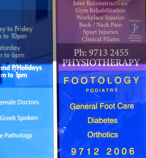 footology = Australian for podiatry