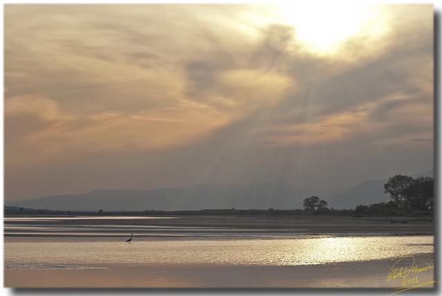 Porto Lagos seaside sunset ... HDR