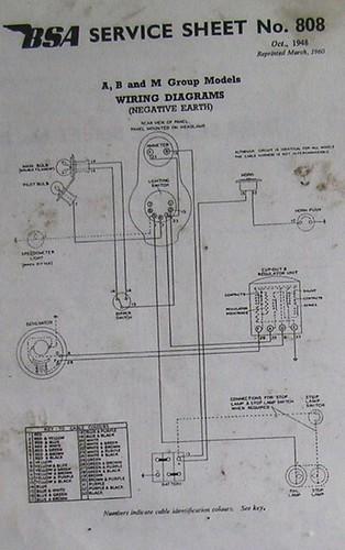 Bsa Wiring Diagram A B  U0026c