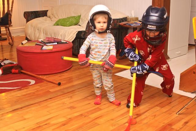 Axel et Ludo (et la game de hockey)