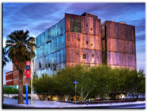 blue arizona cloud southwest art college clouds buildings campus university flickr desert tucson sony award az hdr uofa universityofarizona wildcats cubism cs4 tonemapping tonemap colorefex hdrpool anawesomeshot dslra350 rubyphotographer dslr350 lgeof