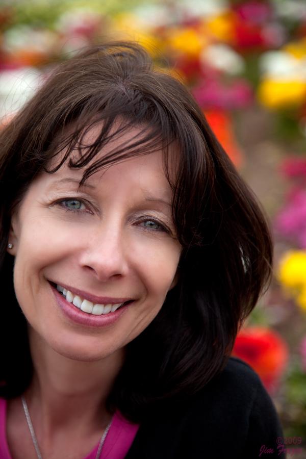 Denise at the Flower Fields by Jim Frazee