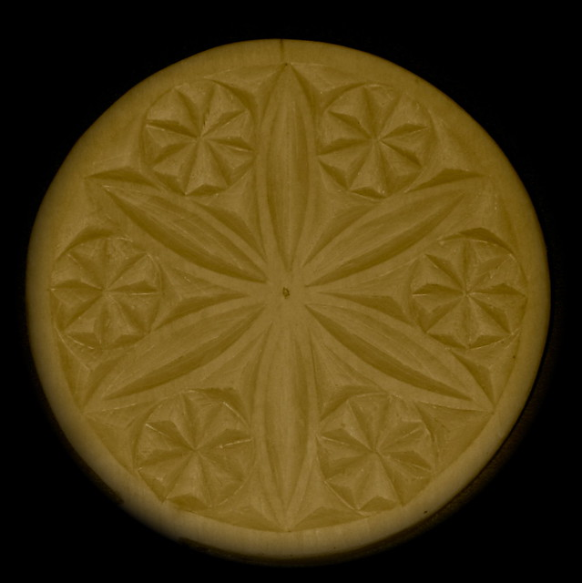 Cake or Cheese Mould with Snowflake or Hexsign pattern