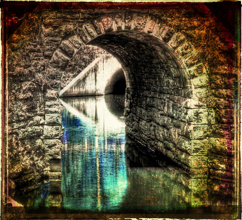 bridge abstract reflection texture water colors stream tunnel experimentation reflexions hdr hdraward