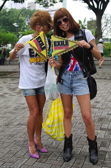 Japanese Exile Fan Girls