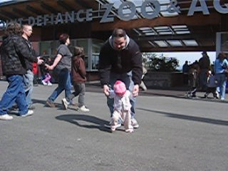 Walking with Papa at the Zoo