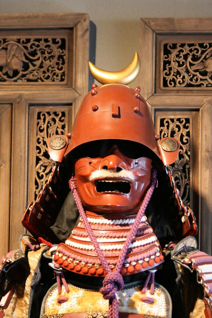Samurai máscara japonesa