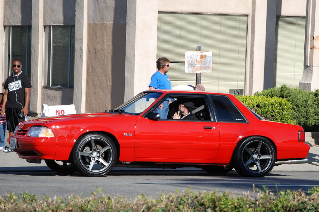 FORD MUSTANG 5 0 LX FOXBODY COUPE with 5 lug SALEEN STYLE