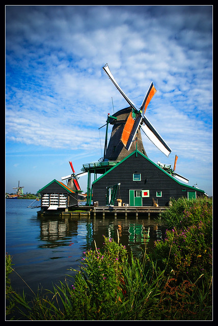 A windmill in Northern Netherlands