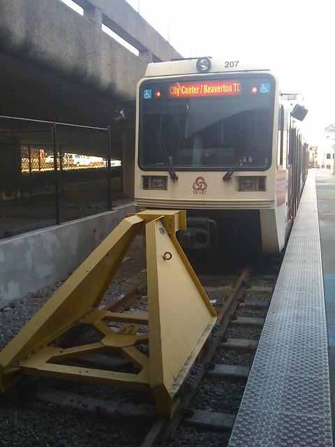 City Center/Beaverton TC Max Train at the Portland International Airport