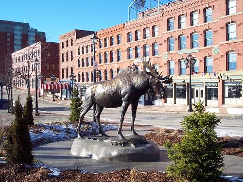 me_nb03m057 Moose Statue, Saint John, New Brunswick 2004 | by CanadaGood