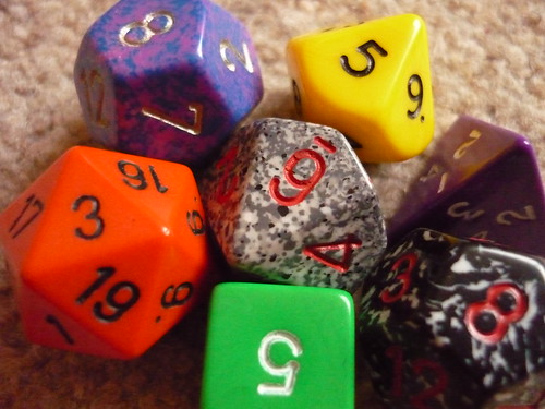 Dungeons & Dragons dice | by lydia_shiningbrightly
