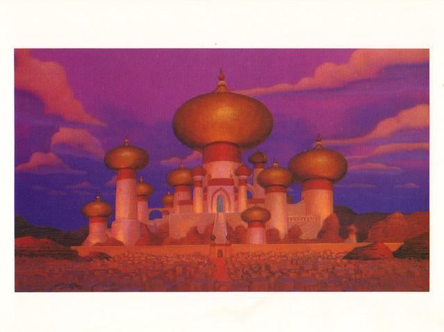 Disney Aladdin Palace Postcard