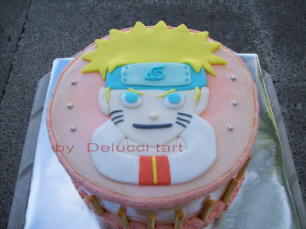 Sensational Naruto Birthday Cake Lusi Flickr Funny Birthday Cards Online Inifodamsfinfo