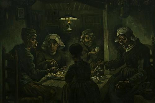 """""""The potato eaters, Vincent van Gogh (1885)"""" / """"De aardappeleters, 1885 Vincent van Gogh (1853-1890)"""""""