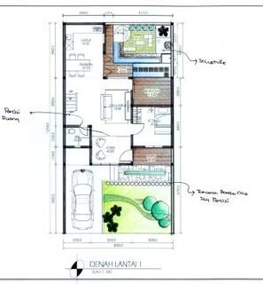 denah rumah, renovasi rumah tipe 70 atau 80, 2 lantai, den