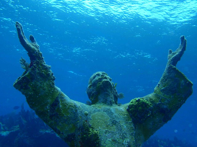 Christ. Most Visited  Underwater Statue in the World