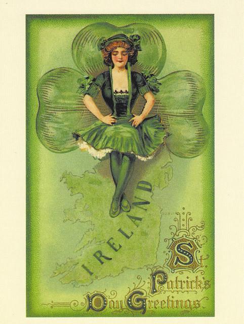 Vintage Reprint St. Patrick's Day Postcard