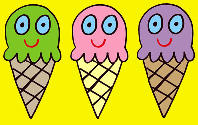 ice cream triple bg | by jelene