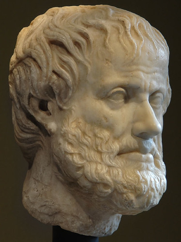 Head of Aristotle. Vienna, Museum of Art History, Collection of Classical Antiquities.