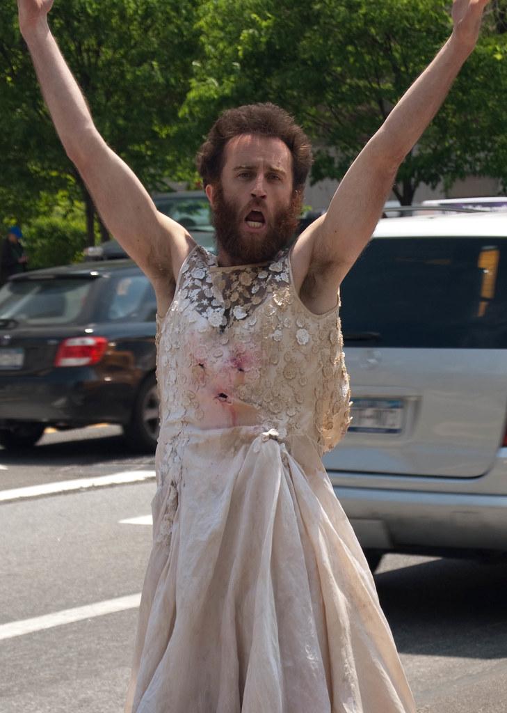 Crazy Man In Wedding Dress This Man In A Dirty Wedding Dre Flickr