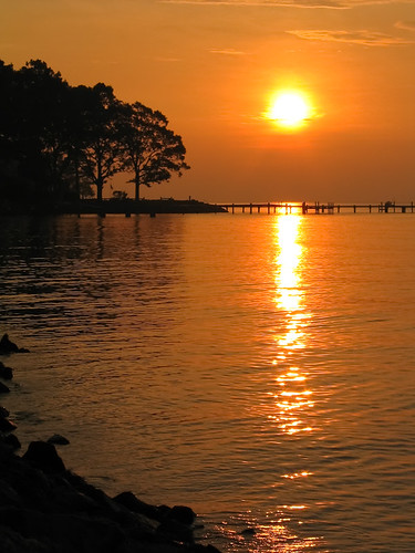 sunset sky orange sun water sunrise va chesapeakechesapeakebaydeltaville