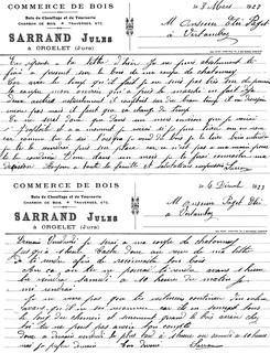 Jules Sarrand, marchand de bois à Orgelet