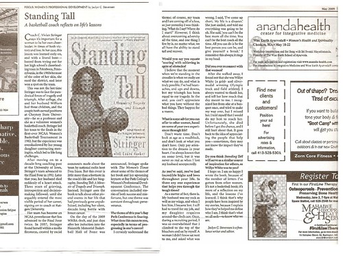 The Women's Times, May 2009 - Standing Tall: An Interview with Vivian Stringer