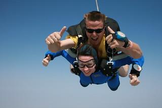 Skydiving | by flawedartist