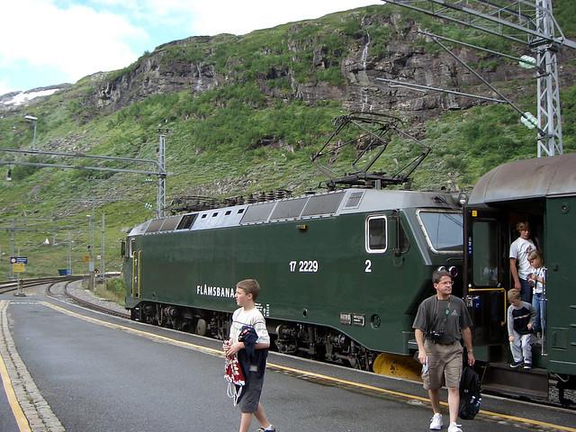Flåmbahn Endstation Myrdal Norwegen 2004