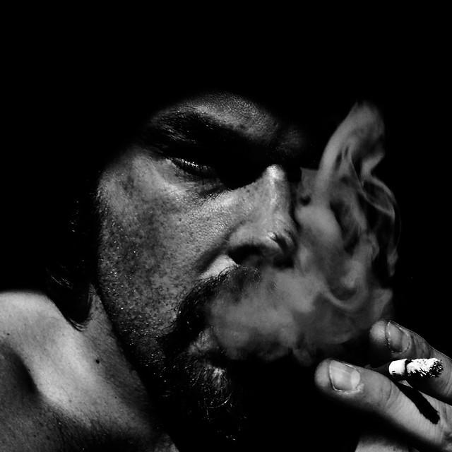 Self-Portrait with Cigarette 2