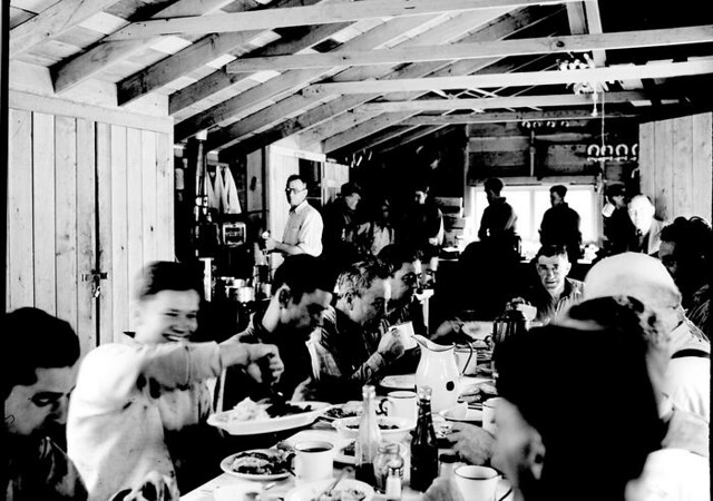 Lunchroom for workers at Gorge Dam, 1935