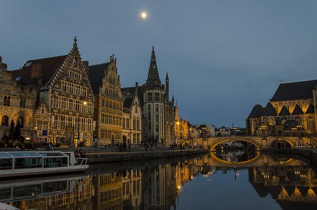 Esti fények - Evening lights - Gent, Belgium