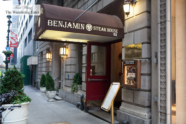 Entrance to Benjamin Steakhouse